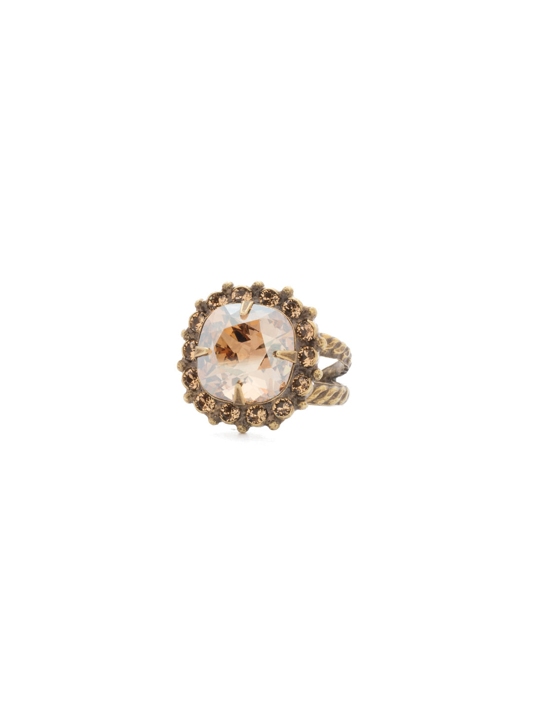 Cushion-Cut Cocktail Ring - RCR112AGNT