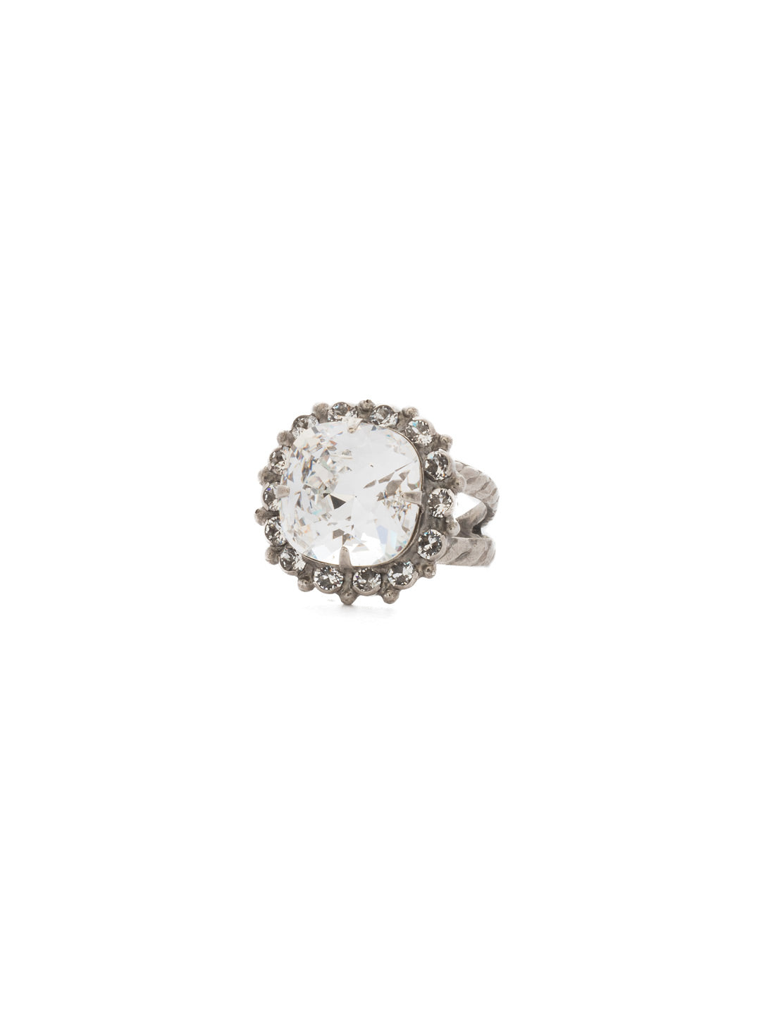 Crystal Cushion-Cut Ring - RCR112ASCRY