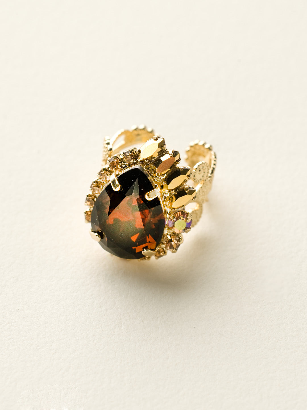 Accented Pear Ring - RCU2BGGOL