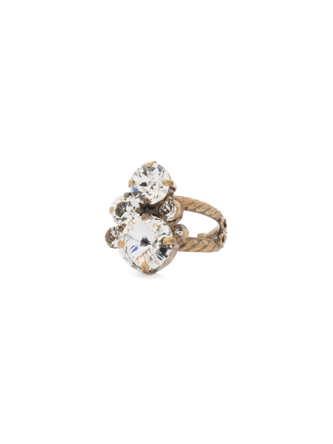 Crystal Assorted Rounds Ring - RDB11AGCRY