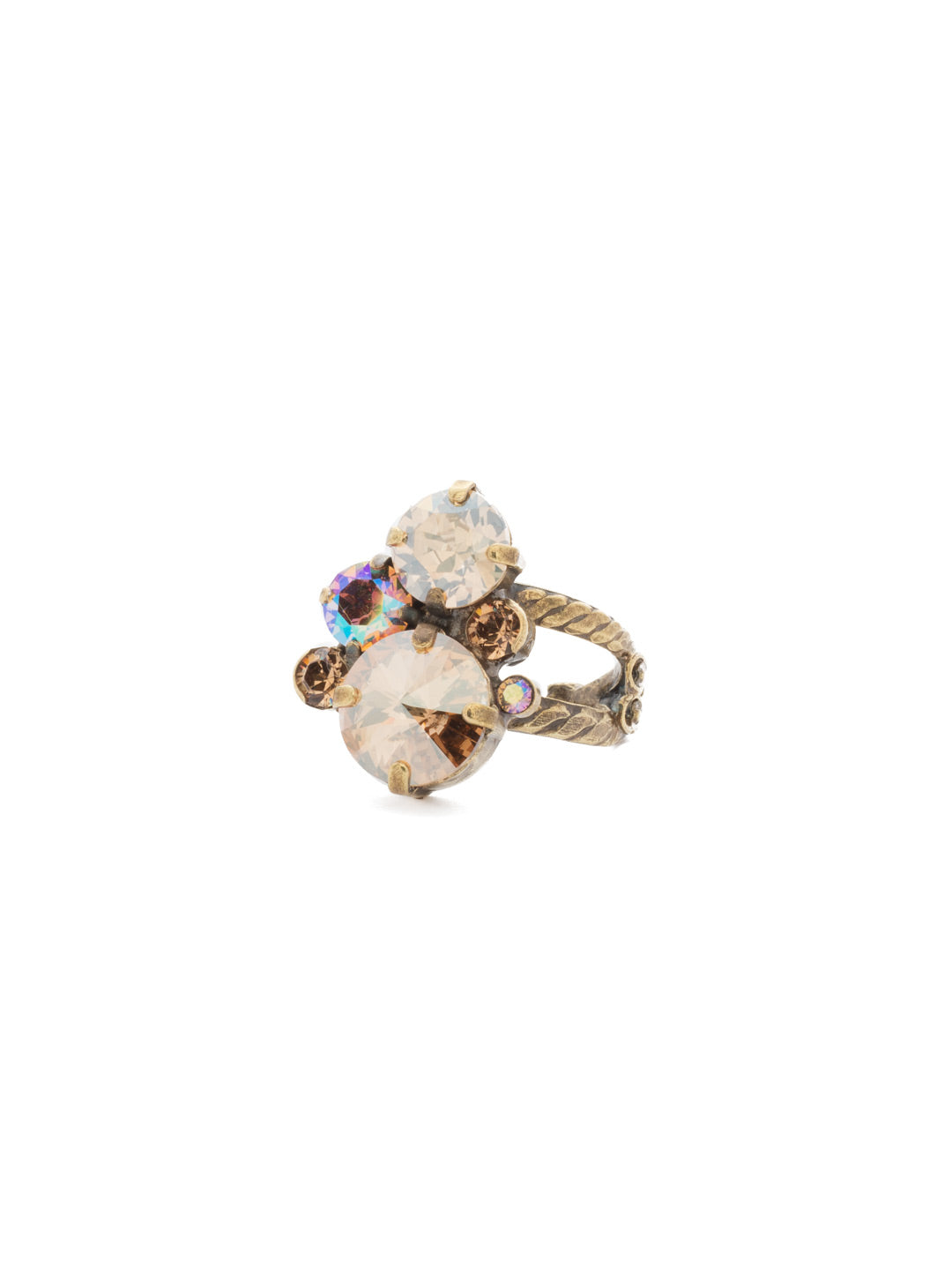 Crystal Assorted Rounds Ring - RDB11AGNT