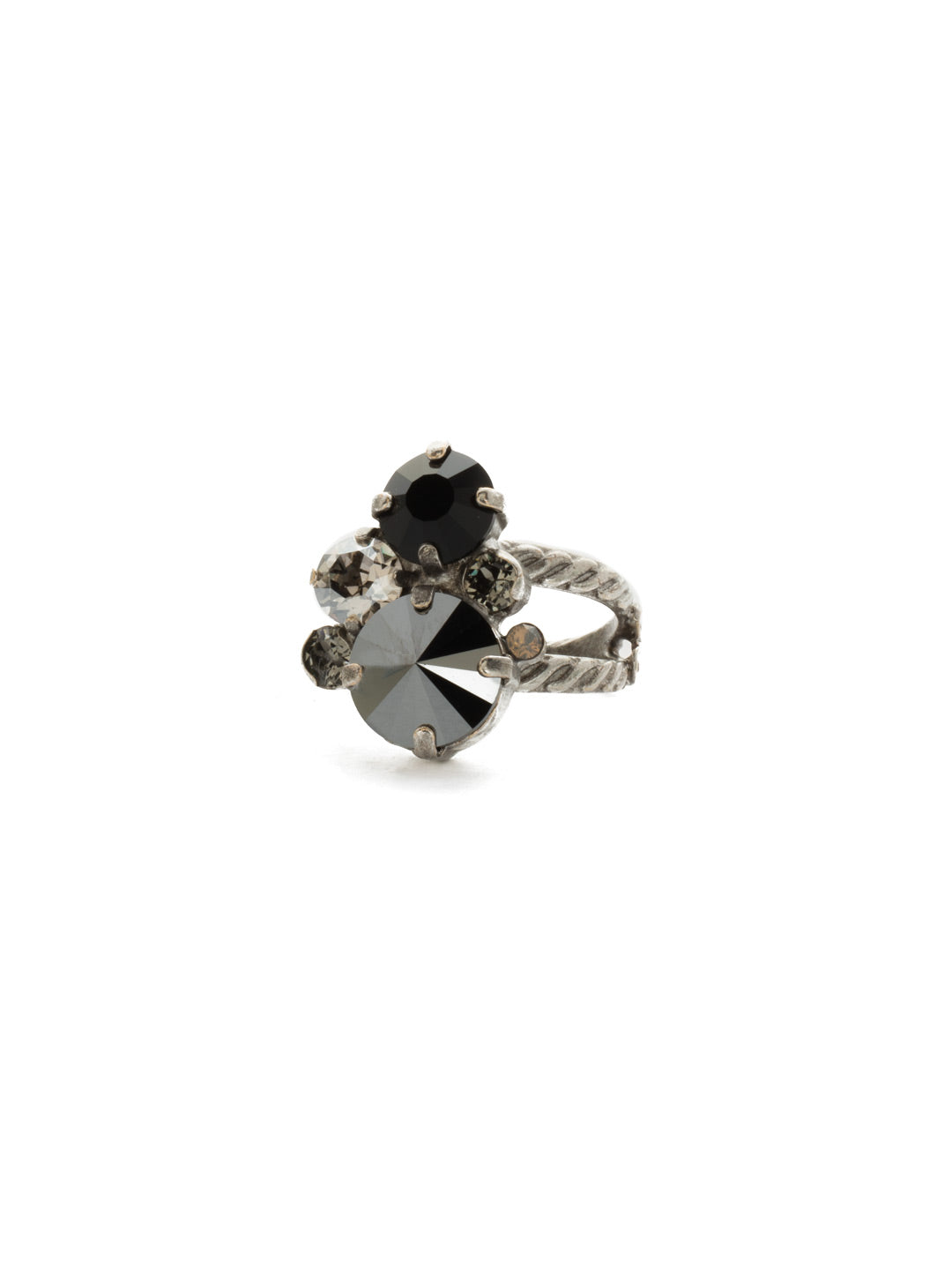 Crystal Assorted Rounds Ring - RDB11ASBON