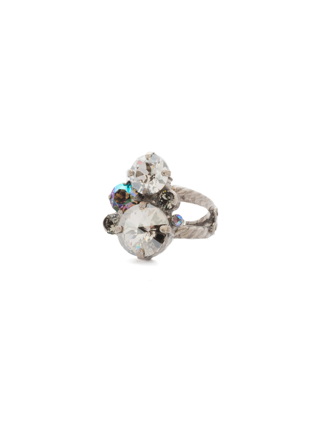 Crystal Assorted Rounds Ring - RDB11ASCRO