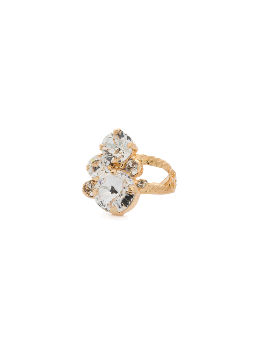 Crystal Assorted Rounds Ring - RDB11BGCRY