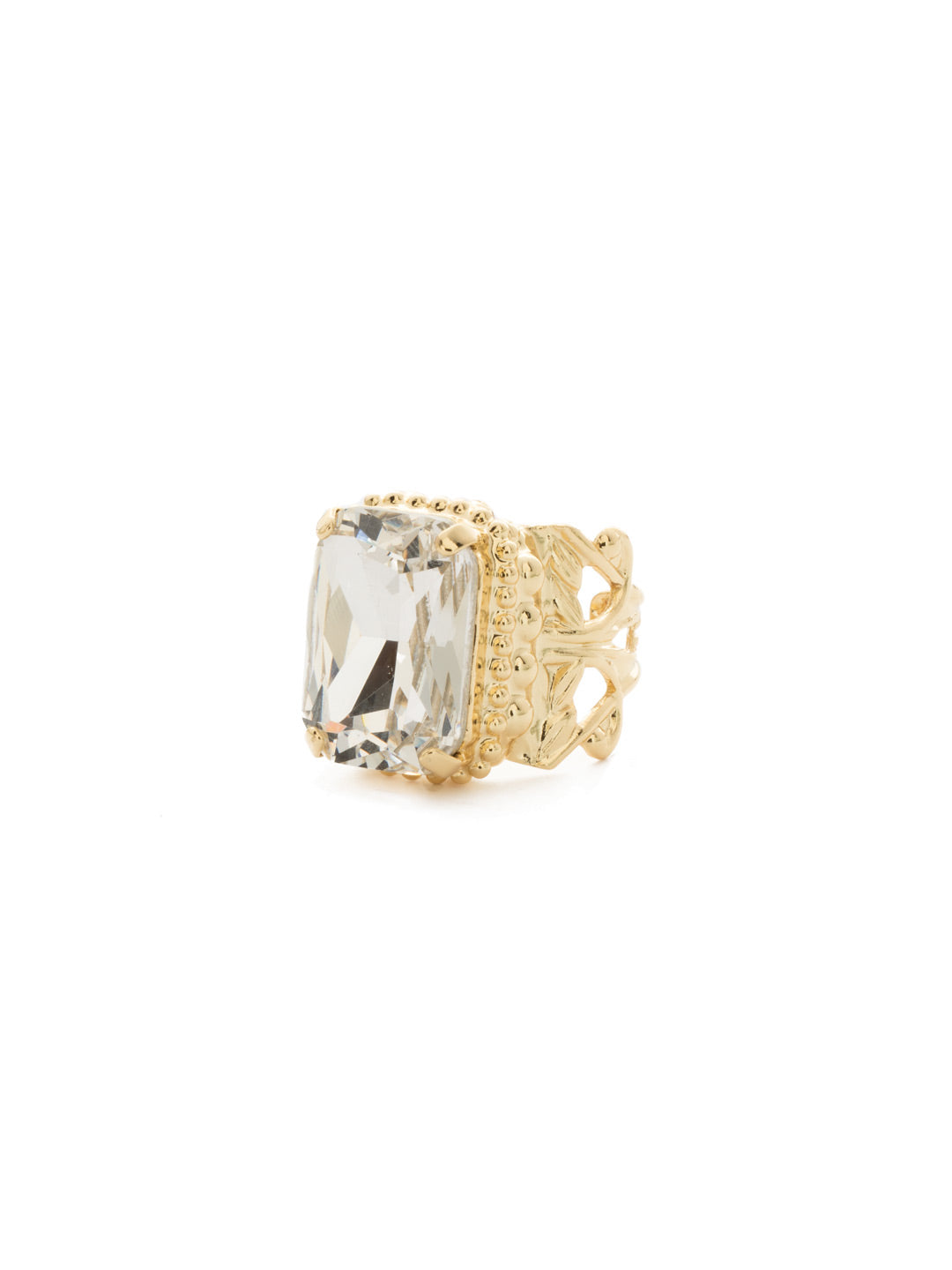 Emerald Cut Band Ring - RDG32BGCRY