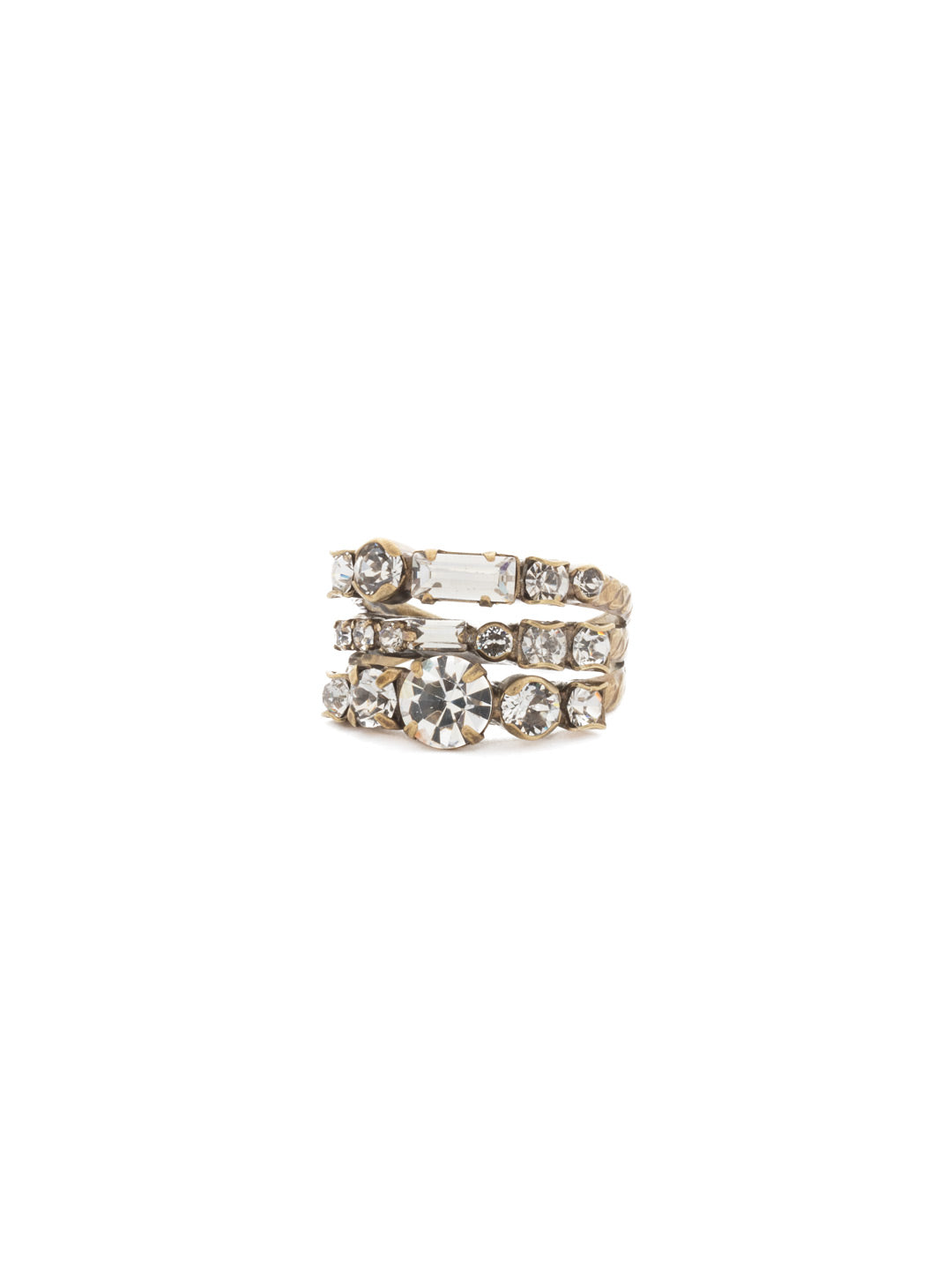 Triple Threat Stacked Ring - RDK23AGCRY