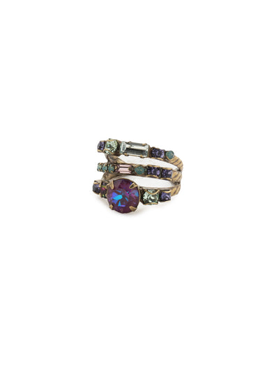 Triple Threat Stacked Ring - RDK23AGIRB