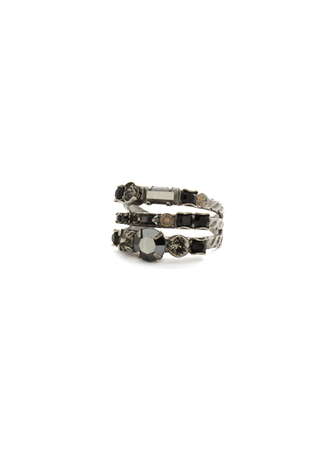 Triple Threat Stacked Ring - RDK23ASBON