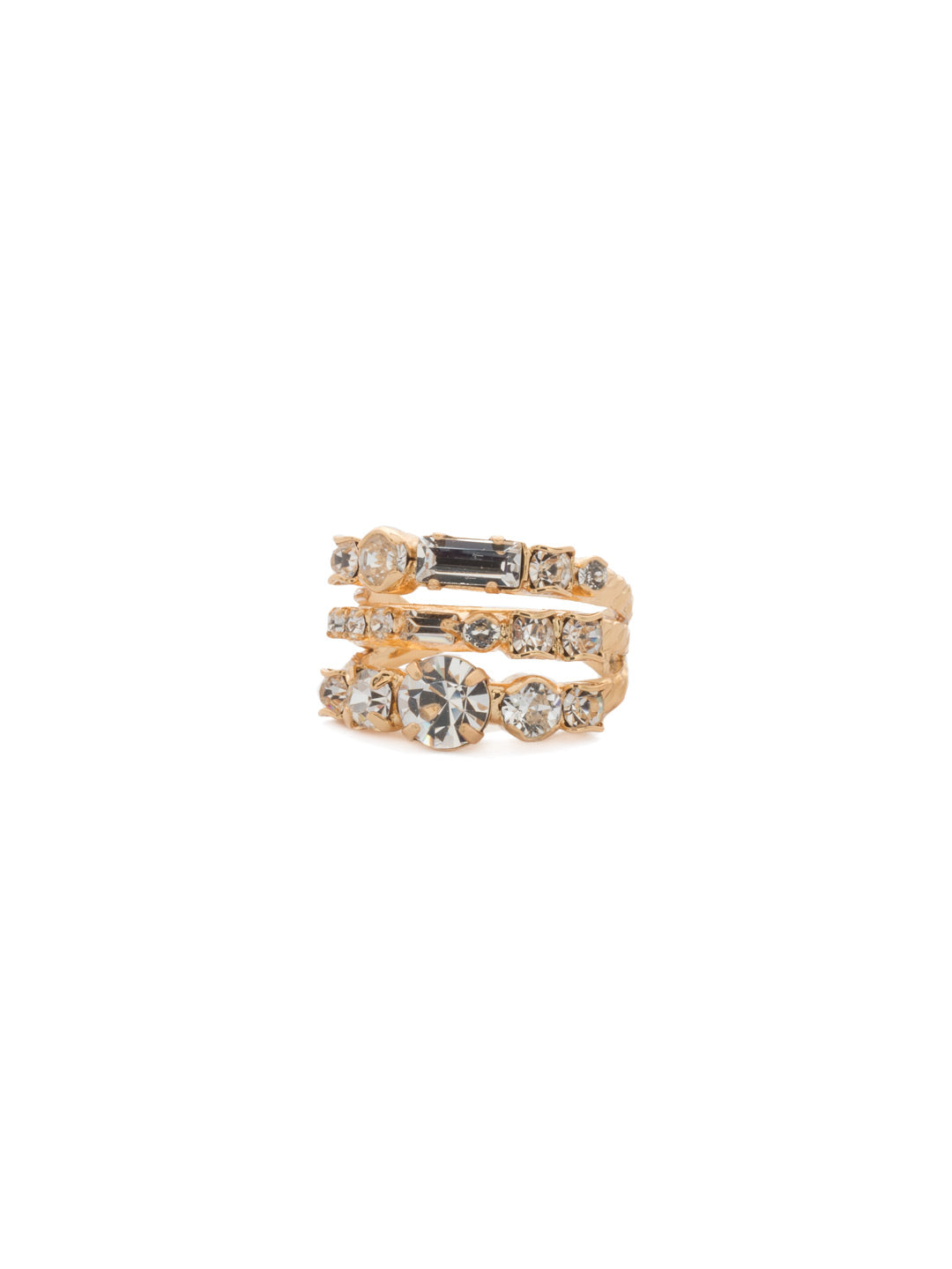 Triple Threat Stacked Ring - RDK23BGCRY