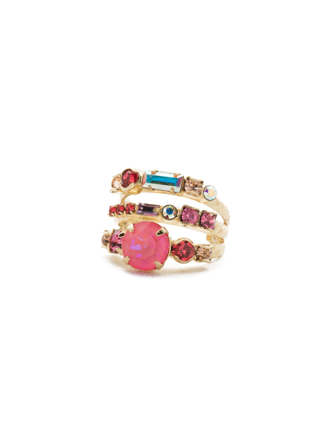 Triple Threat Stacked Ring - RDK23BGISS