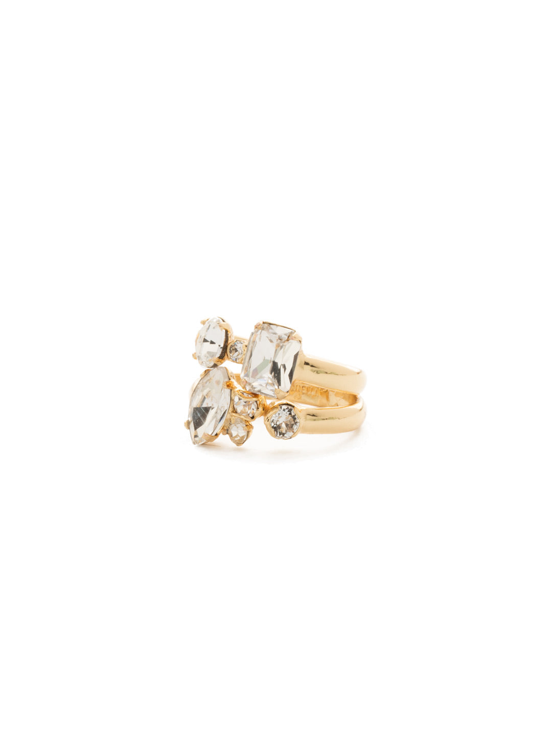 Double Up Stackable Ring Set - RDK50BGCRY