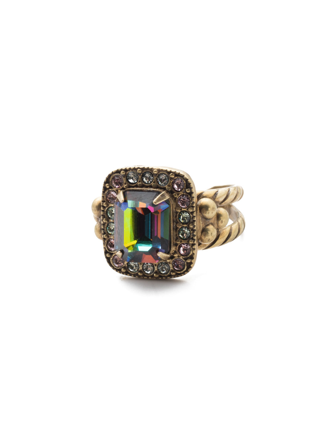 Opulent Octagon Cocktail Ring - RDQ41AGIRB