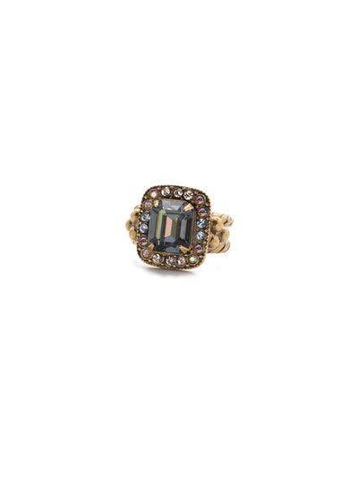 Opulent Octagon Cocktail Ring - RDQ41AGSDE