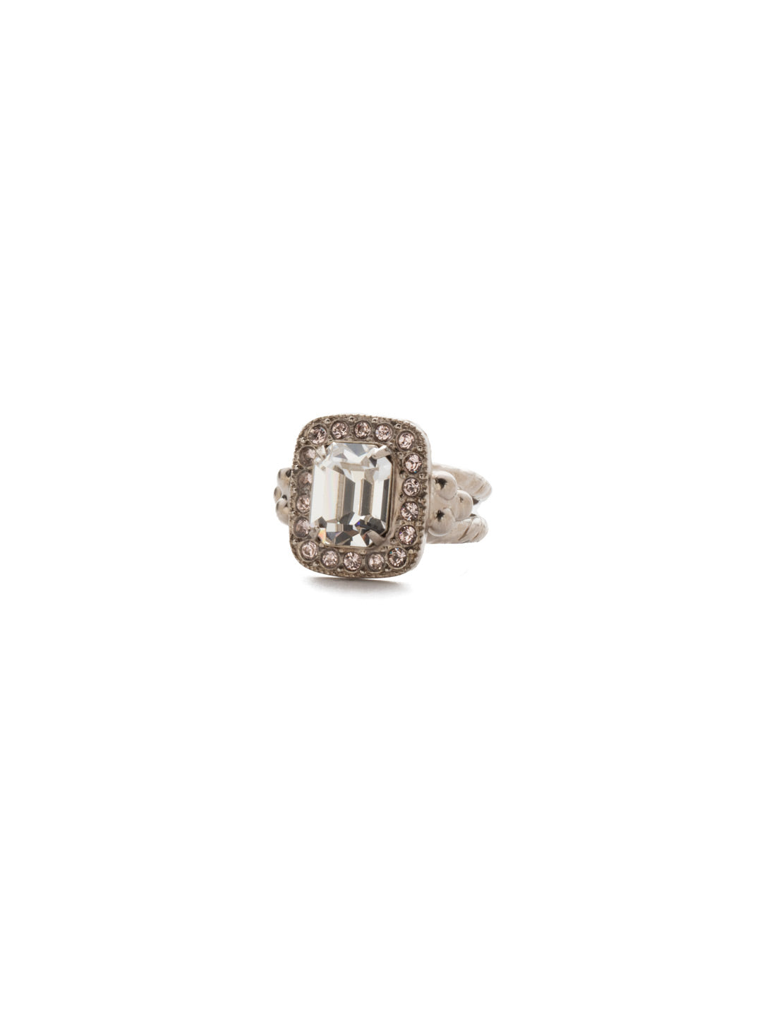 Opulent Octagon Cocktail Ring - RDQ41ASPLS
