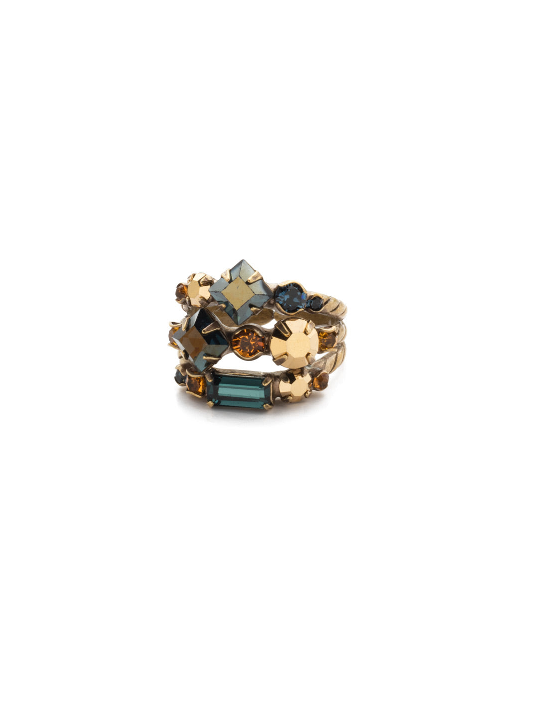 Sedge Stacked Stacked Ring - RDX1AGLNA