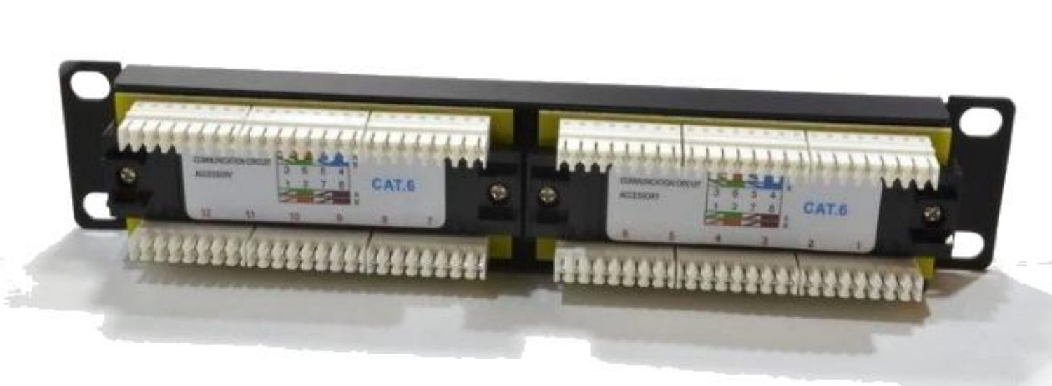 12 Port 1U 10-inch CAT6 UTP SOHO UTP PATCH PANEL (PPAN-12-10-C6)