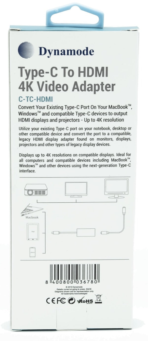 Dynamode C-TC-HDMI USB Type-C to HDMI Adapter