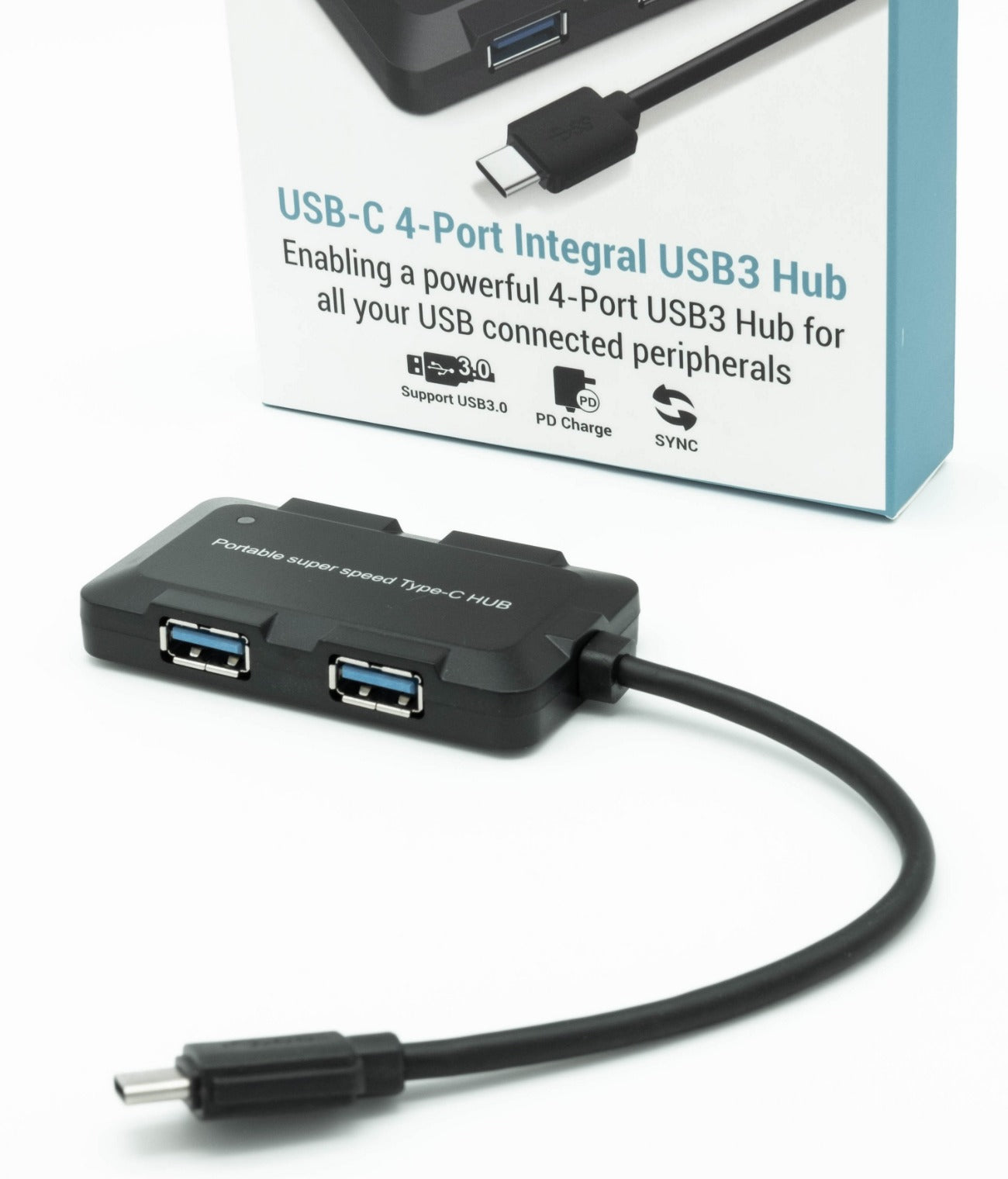 Dynamode C-TC-USB Type-C to 4 Port USB3 Hub