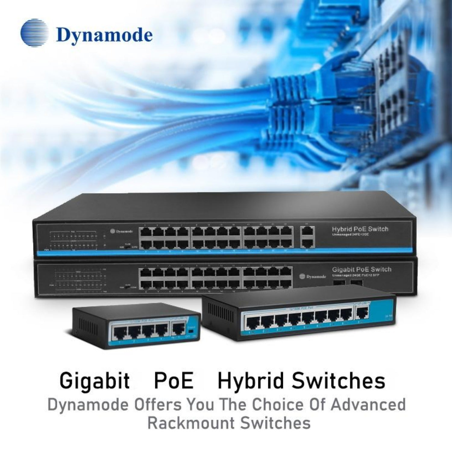 Dynamode SW2402100-POE 24 Port Fast Ethernet Rackmount POE Switch