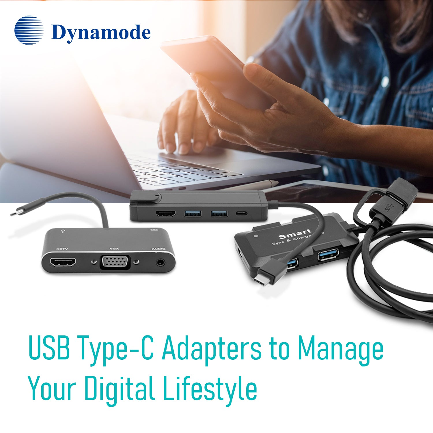 USB Type-C to USB Sync and Charge Cable 1 metre length (C-USB-T-C-BLK)