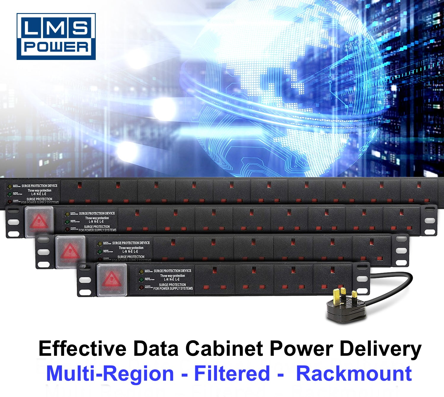 PDU-6WS-H-SP-UK-IEC-3M
