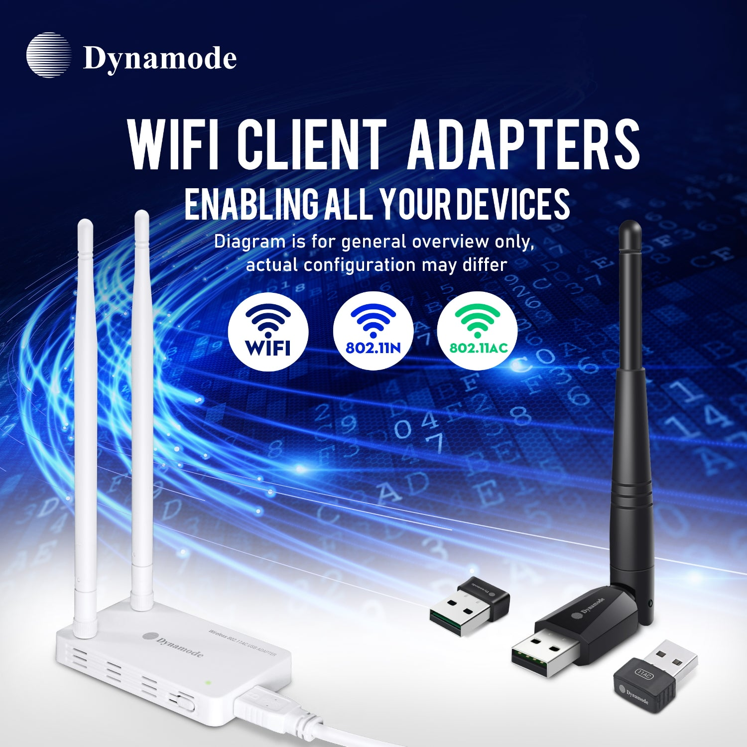 WL-700AN-AC High-Gain WiFi 433Mbps Adapter