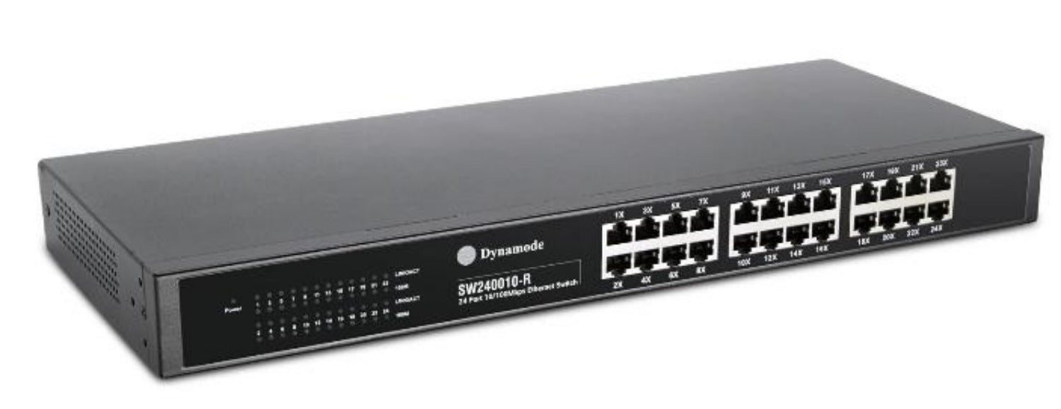 Dynamode SW240010-R 24-Port Rackmount Fast Ethernet Switch