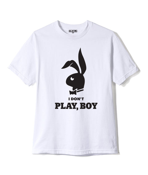 PLAY, BOY Short Sleeve T-Shirt White