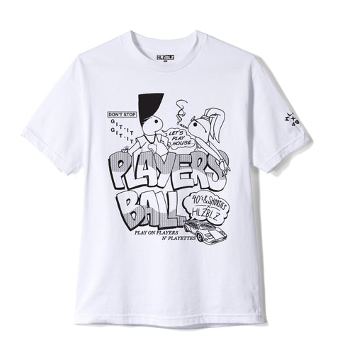 "40S x HLZ ""PLAYERS BALL"" TEE WHITE"