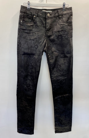 New London black jeans wet look