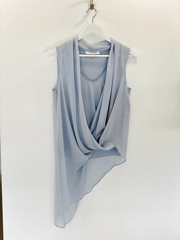 Carla Zampatti pale blue top