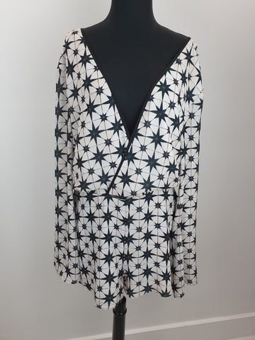 Bec and Bridge black and white playsuit