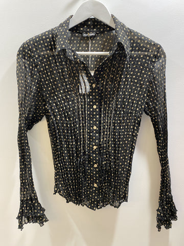Gerry Weber crushed spotted black and cream blouse