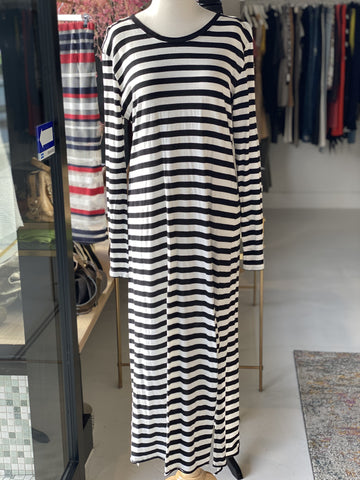 Victoria & Woods Black & White Striped Dress