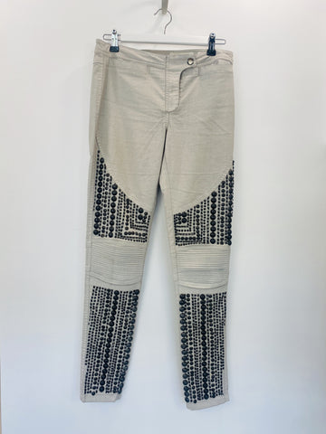 Sass and Bide grey jeans with studs