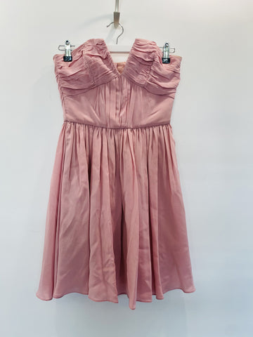 Zimmermann Strapless Baby Pink Mini Dress