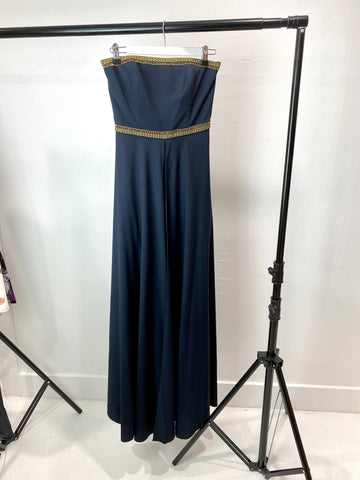 Sass & Bide Strapless Navy Dress