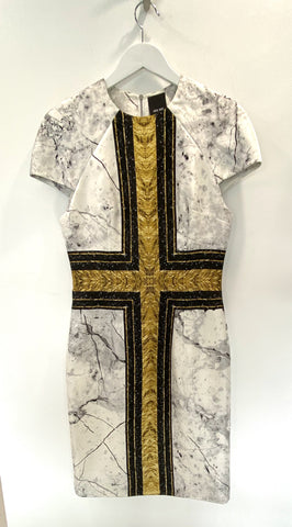 Josh Goot cross of gold & black dress