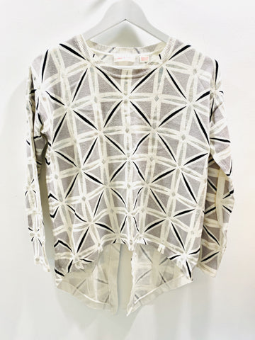 Sass and Bide silver, black and white knit jumper
