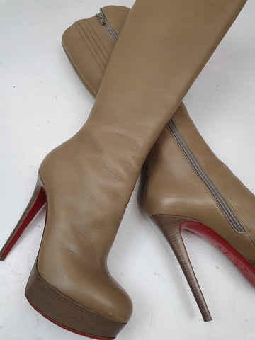 Christian Louboutin Camel  Boots