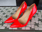 Kate Spade Fluro Orange Patent leather heels