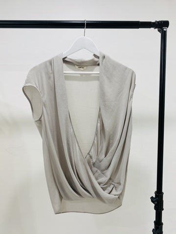 Helmut Lang Drape Neck Top
