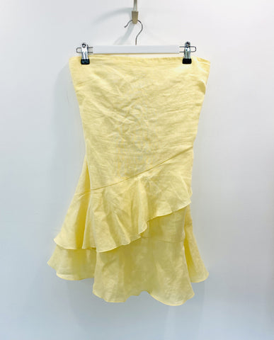 Bec and Bridge lemon strapless dress
