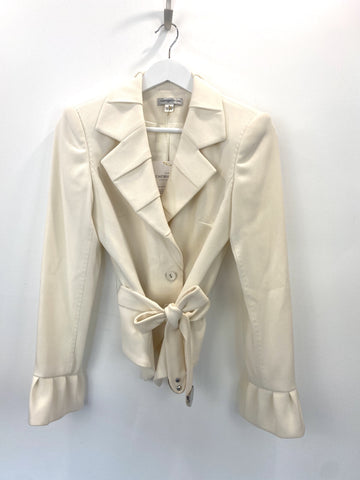 George Gross cream tailored jacket w/belt
