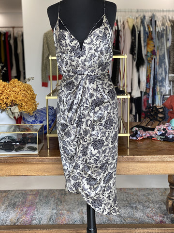 Zimmerman black and gold silk floral dress