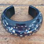 Louis Vuitton black monogram bangle