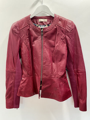 Alannah Hill dark red leather jacket