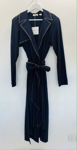 Sass and Bide navy light weight trench