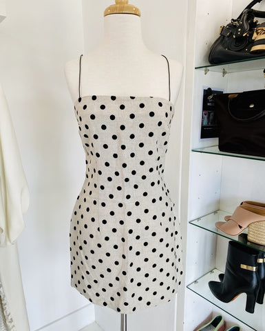Bec and Bridge polka dot dress with shoestring straps