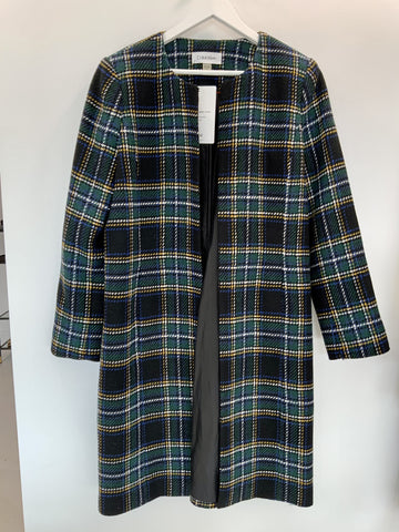 Calvin Klein Checked wool coat